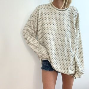 Vintage Textured Boxy Knit Pullover